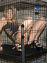 Locked up in cage