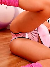 tight pink satin panties