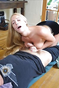 Loving Beautiful Blonde Taking Her Sperm Medicine